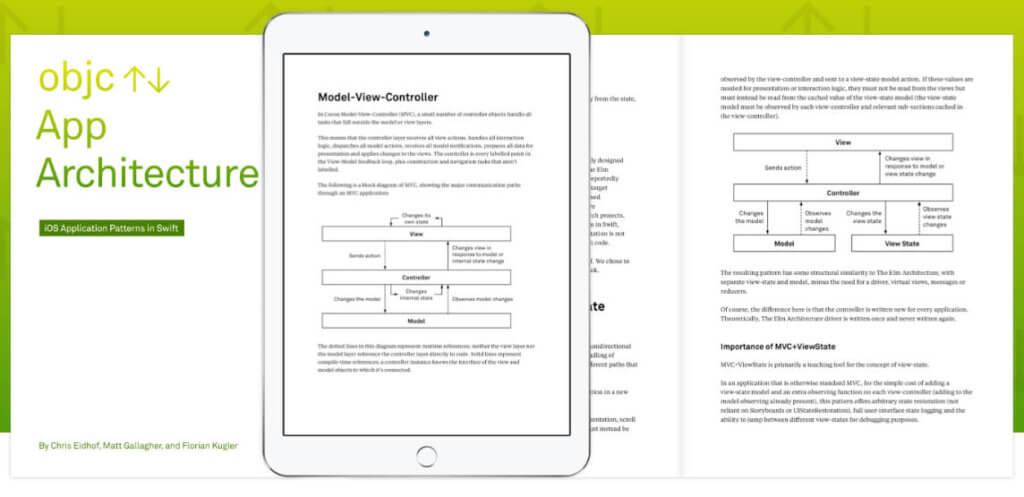 """Das Ebook """"objc App Architecture"""" gibt es auch in einer teureren Version mit Videos."""