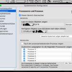 Hier das App-Fenster mit den Monitoren auf der Menüleiste von macOS.
