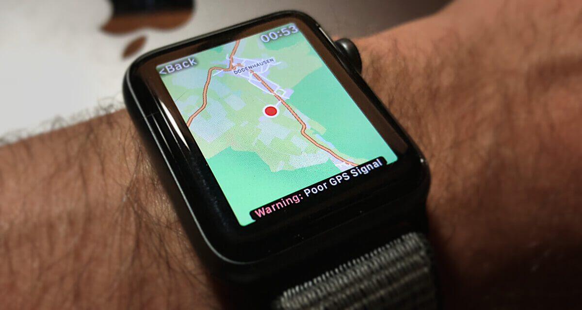 Workoutdoors: eine apple watch app mit karten und gps tracks