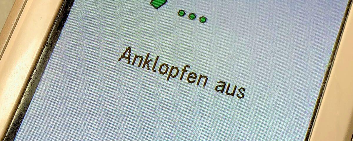 Anleitung: Anklopfen beim Telekom-Anschluss ausschalten