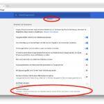 Die Google Chrome Einstellungen bieten einen erweiterten Bereich, der euch das richtige Menü aufzeigt.