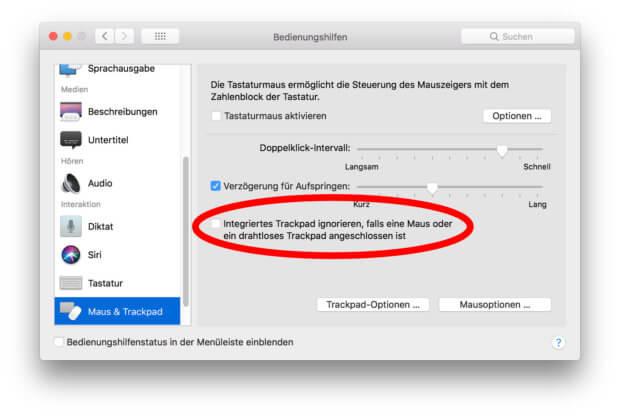 Die Bedienungshilfen unter macOS helfen euch, wenn ihr Mäuse und Trackpads gleichzeitig am MacBook / Pro / Air nutzen wollt.