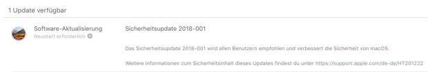 Das Update für macOS 10.13 High Sierra findet ihr im App Store. Es erfordert einen Neustart des Mac.