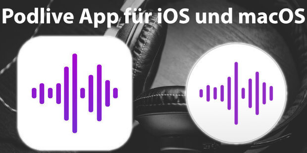 Podlive (Premium) für iPhone und iPad ab iOS 11.3 und Mac mit macOS ist ideal, wenn ihr eine Podcast App wollt, mit ihr Livestreams verfolgen und per Chat daran teilhaben wollt.
