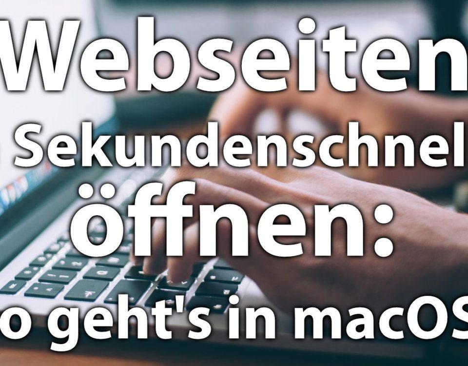Ihr wollt eine Webseite, URL oder einen Link schnell öffnen ohne erst den Browser aufzumachen? Das geht per Spotlight und Dock-Verknüpfung!