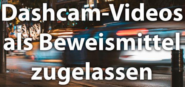 Dashcam-Videos vor Gericht sind nach einem BGH-Urteil vom 15. Mai 2018 zulässig und der Datenschutz im Einzelfall als nachrangig anzusehen. Der Bundesgerichtshof ebnet damit den Weg zur 100-prozentigen Legalisierung von Auto-Kameras.