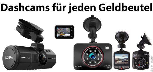 Eine Dashcam kaufen, das ist zum kleinen Preis, für umfangreiche Funktionen aber auch mit einem großen Geldbeutel möglich. Dashcams, Autokameras und Verkehrskamera-Modelle findet ihr hier.