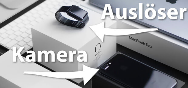 Die Halide App auf der Apple Watch dient als Fernauslöser / Fernbedienung für die iPhone Kamera.