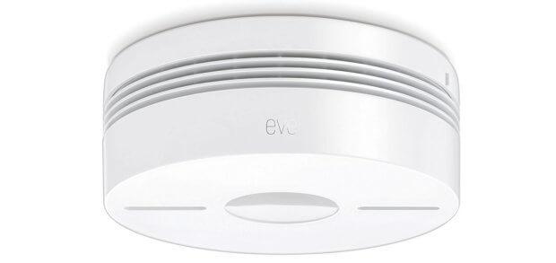 Der Elgato Eve Smoke Dualwarnmelder (Rauchmelder und Hitzemelder) kann per HomeKit mit der Home-App von Apple gekoppelt werden. Bilder: Amazon