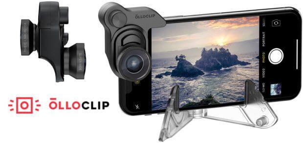 Olloclip bietet Objektive für die iPhone X Kamera. Im Mobile Photography Box Set befinden sich Weitwinkel-, Makro- und Fisheye-Linse sowie das Clip-System und ein Smartphone-Ständer für ruhige Foto-Aufnahmen. (Bilder: Amazon / Olloclip)