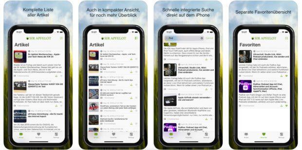 Die Sir Apfelot App für iOS auf eurem Apple iPhone ist nun endlich fertig und steht für den Download im Store bereit. Yeah!