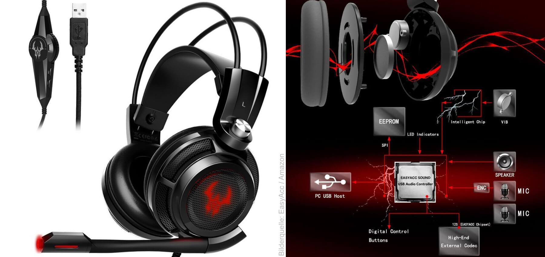 test easyacc g1 gaming headset kopfh rer mit mikrofon. Black Bedroom Furniture Sets. Home Design Ideas