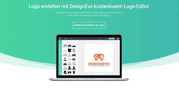 Direkt online per HTML5-Tool ein Logo gratis erstellen, herunterladen und auf der Webseite, im Blog und in Social Media nutzen? Das geht mit DesignEvo - Details dazu gibt's in diesem Test- und Erfahrungsbericht.