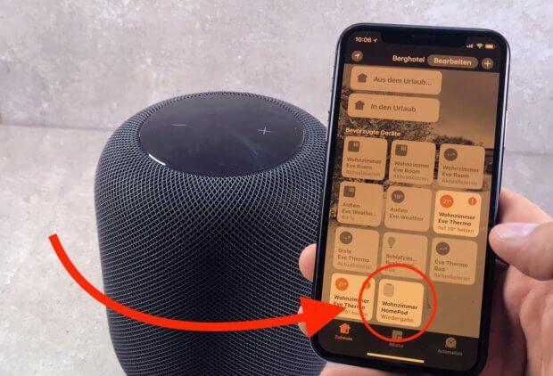 Die HomePod Einstellungen findet ihr in der Apple Home App, in der alle HomeKit-Geräte verwaltet werden.
