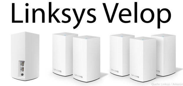 DIe Linksys Velop WLAN-Mesh-Systeme mit Dual Band (Wifi über 2,4 GHz und 5GHz) sind günstige Alternativen zu den Tri Band Modellen.