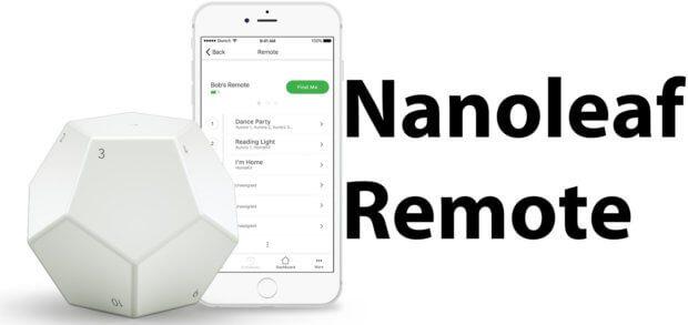 Die Nanoleaf Remote dient als Fernbedienung für die Light Panels des Herstellers sowie über iPhone und iPad, Apple TV oder HomePod auch für HomeKit-Geräte im Smart Home.