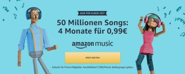 Amazon Music Unlimited vier Monate für nur 99 Cent testen - die altbekannte Aktion ist derzeit wieder verfügbar.