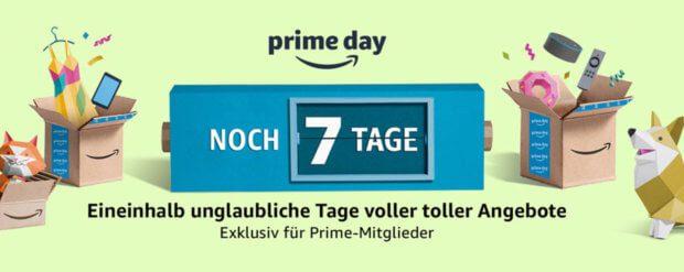Offiziell sind es zum Amazon Prime Day 2018 (16. bis 17. Juli) noch sieben Tage. Doch schon jetzt gibt es zahlreiche Aktionen, Deals, Coupons und Rabatte. Details gibt's hier!