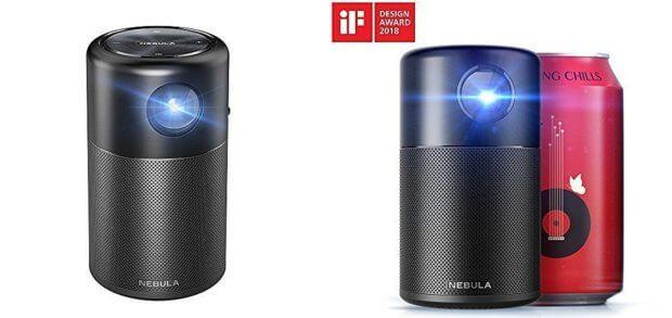 Der Anker Nebula Capsule Beamer im Mini-Design hat im Test vieler Nutzer gut abgeschnitten. Einzig die Bildhelligkeit bei Tageslicht sorgt für größere Kritik. Bilder: Amazon