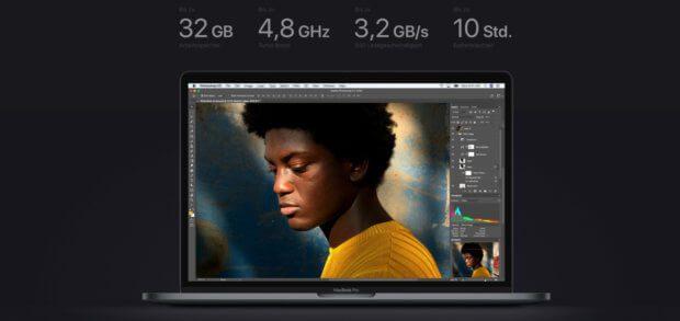 """Das 2018-Upgrade des Apple MacBook Pro wird auf der Apple-Webseite mit dem Slogen """"Pro wie noch nie"""" beworben."""