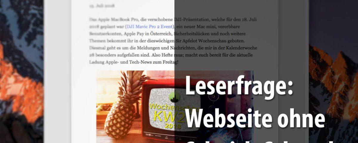 Beitragsbild: Webseite im Readermodus ausdrucken