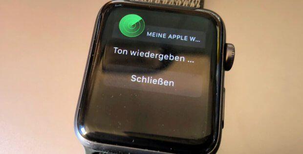 Find my Apple Watch - eine solche App fehlt zwar, aber die Einstellungen auf dem iPhone lassen das Orten und das Abspielen eines Signaltons zu.