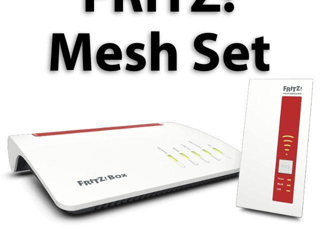 neues avm fritz mesh set bundle aus router und repeater sir apfelot. Black Bedroom Furniture Sets. Home Design Ideas
