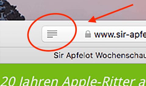 Der Reader-Modus in Safari ermöglicht eine ordentlich lesbare Ansicht einer Webseite.
