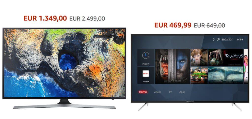 """Die IFA 2018 sorgt nicht nur für neue, teure Smart TVs, sondern auch für Rabatte bei """"älteren"""" Modellen. Genau jetzt sollte man 4K Fernseher günstiger kaufen ;)"""
