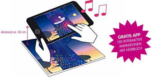 Mit der passenden Software und einer Kamera im Tablet sorgen die App-Geschichten-Bücher aus dem Knesebeck Verlag für spannende, animierte und hörbare Inhalte.