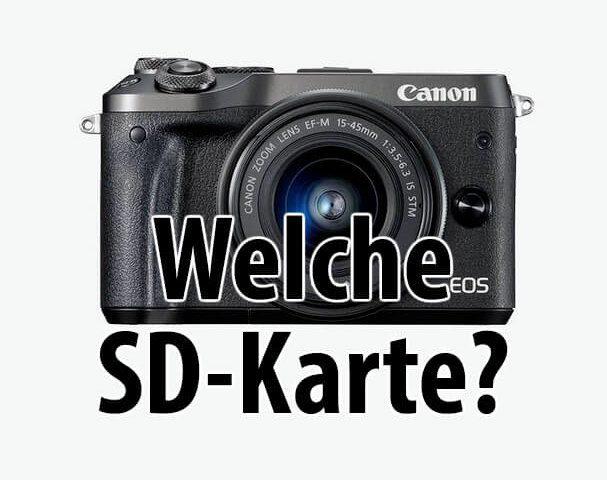Canon EOS M6 SD Karte Foto