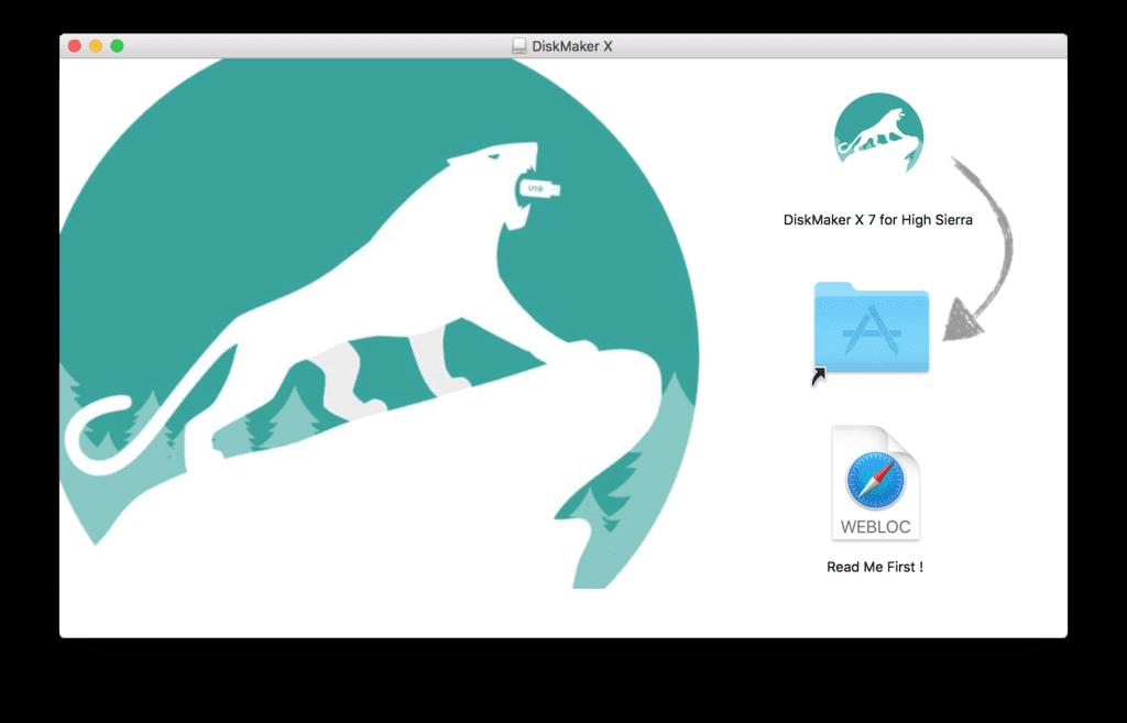 Nach dem Download müsst ihr den DiskMaker X nur noch in den Programme-Ordner ziehen. Schon könnt ihr loslegen.
