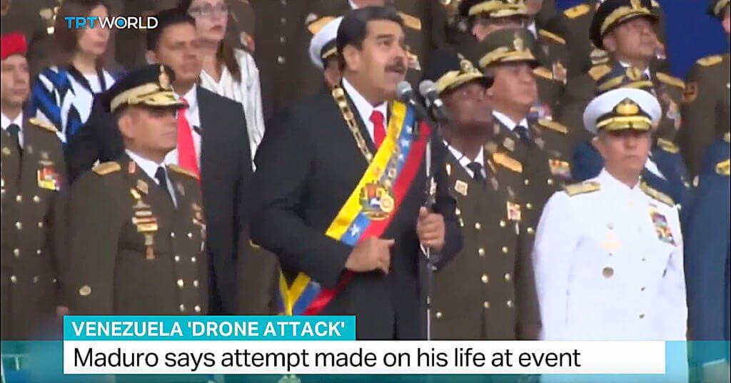 Ein Attentat mit DJI Drohnen: Sprengstoff sollte Anfang des Monats bei einer Militärparade in Venezuela zum Präsidenten Nicolás Maduro geflogen werden.