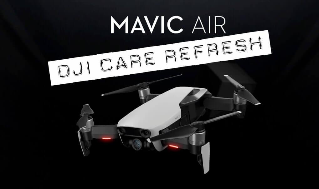 Durch die Care Refresh Option ist man bei einem Unfall schneller wieder mit der DJI Mavic Air unterwegs.