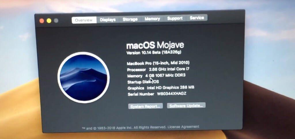Der Beweis (aktuell mit einer Mojave Beta erbracht): Bastler und Programmierer Collin zeigt im Video (s. u.), dass Mojave auch auf einem alten Apple MacBook Pro läuft.
