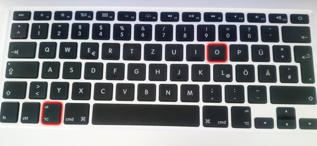 Das Durchschnittszeichen mit der Apple Mac Tastatur eingeben - das geht ganz einfach mit Alt+o. Mit diesem Shortcut erzeugt ihr das ø unter macOS.