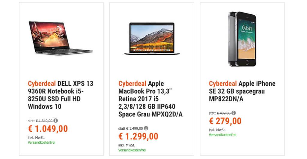 Ihr wollt ein Apple iPhone SE günstiger kaufen? Bis 15. August 2018 geht das bei den aktuellen Cyberport Cyberdeals. Der Preis ist fast mit Gebraucht-Preisen von reBuy vergleichbar.