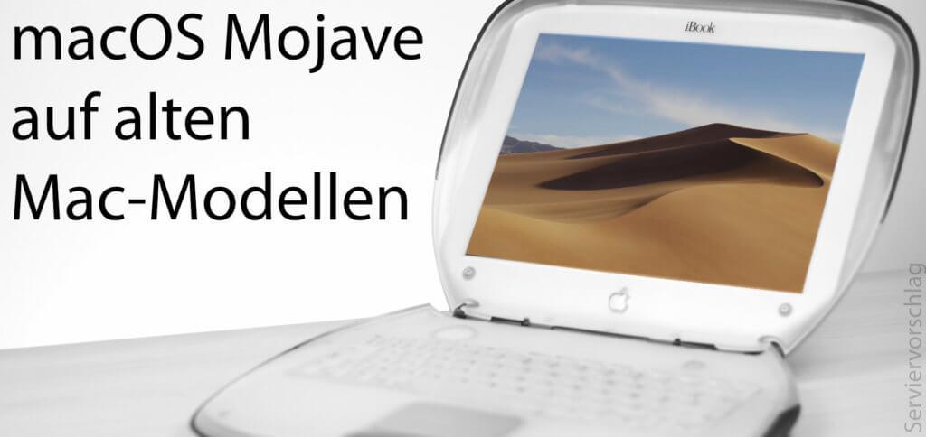 Zugegeben, auf einem Clamshell iBook wird Mojave nicht laufen. Aber Apple Mac Modelle ab 2007 / 2008 können mit dem macOS Mojave Patcher Tool for Unsupported Macs vom DosDude1 mit dem Betriebssystem ausgestattet werden.