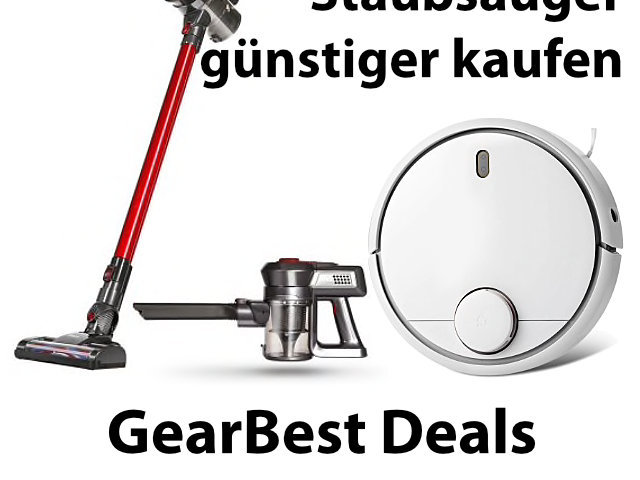 GearBest-Aktion Ende August 2018: günstige Staubsauger(roboter)