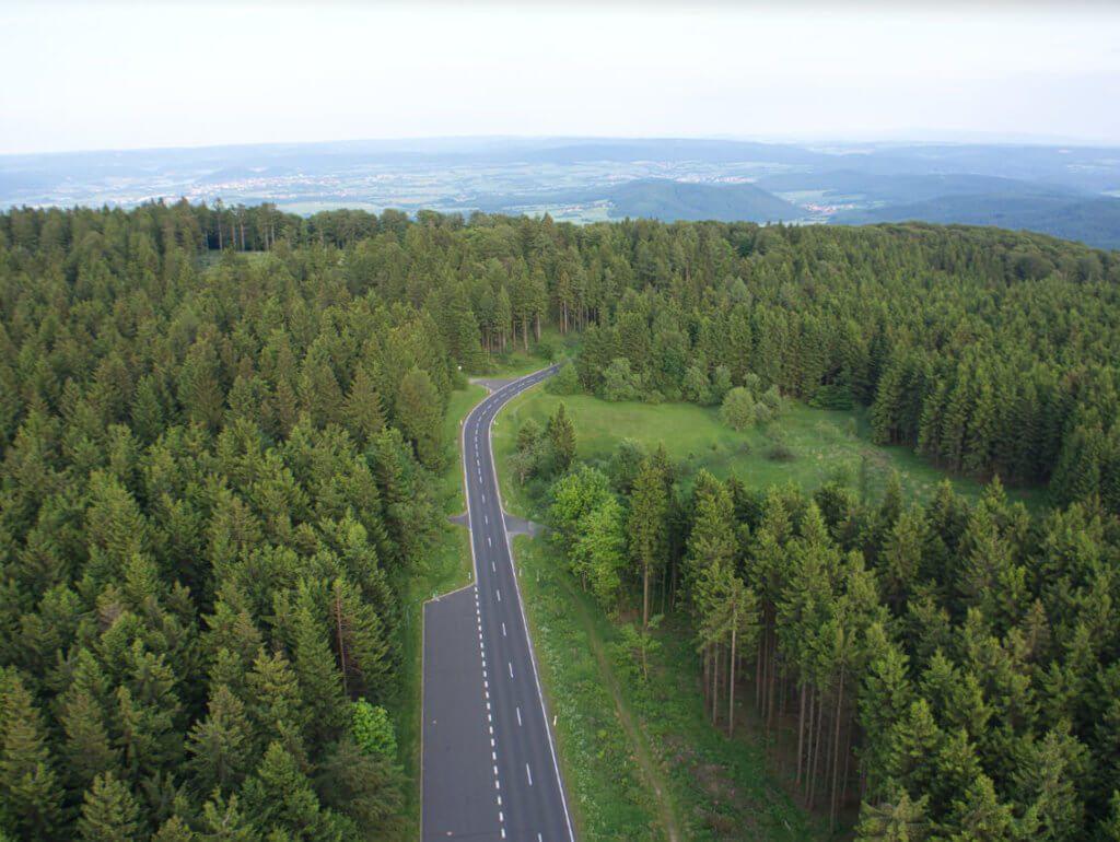 Das besagte Luftbild des Waldes ohne Photolemur-Bearbeitung…