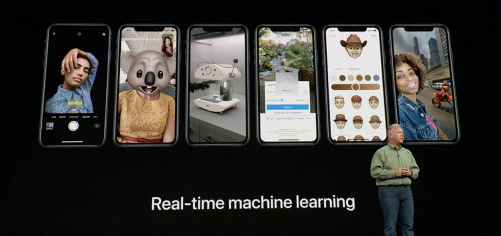 Der Apple A12 Bionic Chip verfügt über Machine Learning in Echtzeit.