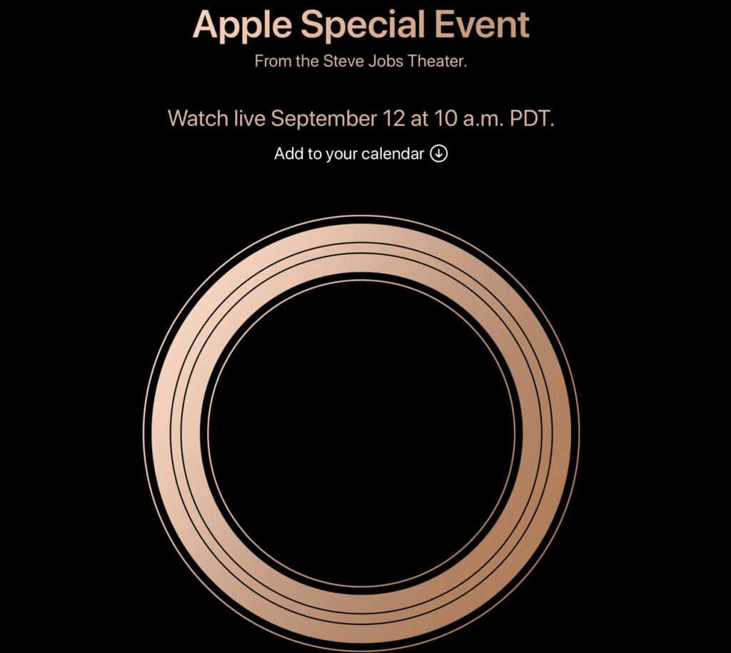 Das Apple Special Event hat einen offiziellen Termin: am 12. September 2018 sehen wir das neue iPhone sowie weitere neue Geräte und Technologien aus Cupertino!