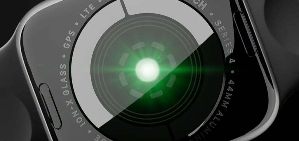 Die Sensoren auf der Rückseite der Apple Watch 4 bieten mehr Möglichkeiten für Puls- und Herzrhythmus-Messung.