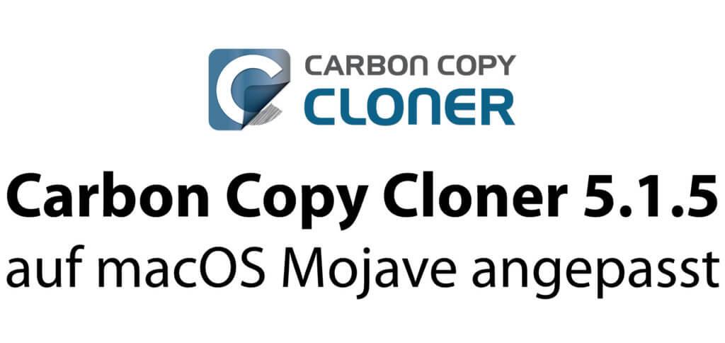 Carbon Copy Cloner 5.1.5 ist bereit für macOS Mojave, APFS und die neuen Sicherheitseinstellungen.