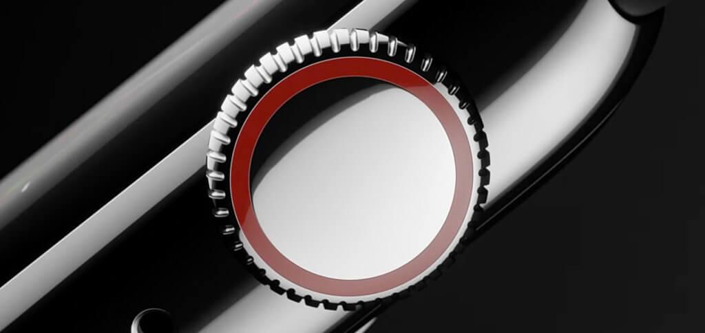 Die neue Digital Crown (Uhren-Krone der Watch) bietet haptisches Feedback für ein präziseres Scrollen.