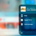 Über den Airplay-Button in der App kommt man in das Menü, über das man das Fernsehprogramm an den Apple-TV senden kann.