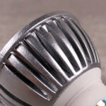 Foto: Reflektor einer LED mit GU10-Sockel