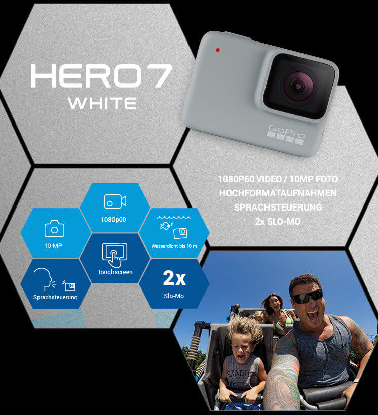 Die GoPro HERO7 White ist das