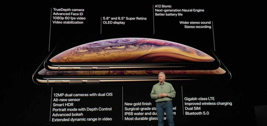 Die iPhone Xs Specs der beiden Modelle, also inkl. Max-Modell.