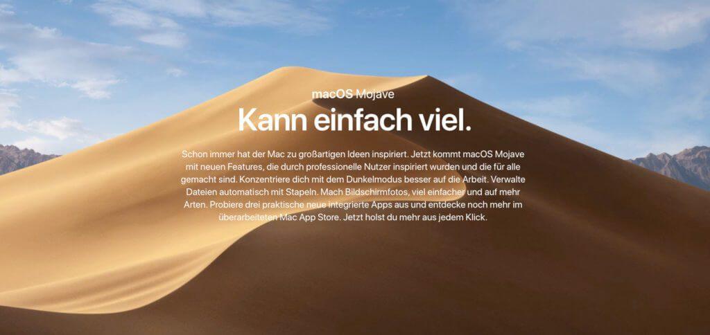 Das neue Mac-Betriebssystem kann einfach viel. Dennoch gibt es nach dem Upgrade für einige Nutzer Mojave Probleme. Habt ihr ein Problem mit macOS 10.14 Mojave? Vielleicht findet ihr hier die Lösung!